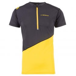 CAMISETA  M/C TRAIL LA SPORTIVA LIMITLESS ZIP hombre black yelow