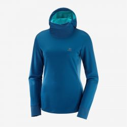 SUDADERA SALOMON AGILE LS HODDIE W AdvancedSkin Warm