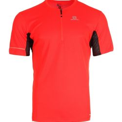 CAMISETA SALOMON AGILE MC HZ ZIP