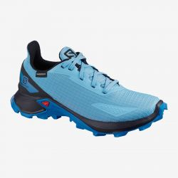 ZAPATILLA IMPERMEABLE SALOMON ALPHACROSS BLAST CSWP J blue