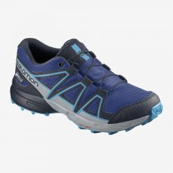 ZAPATILLA IMPERMEABLE SALOMON JR SPEEDCROSS CWP J surf the web navy