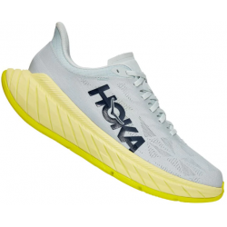 ZAPATILLA HOKA ONE ONE M CARBON X2 blue flower luminary green