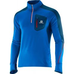 Camiseta Salomon M/L Zip Trail Runner Warm